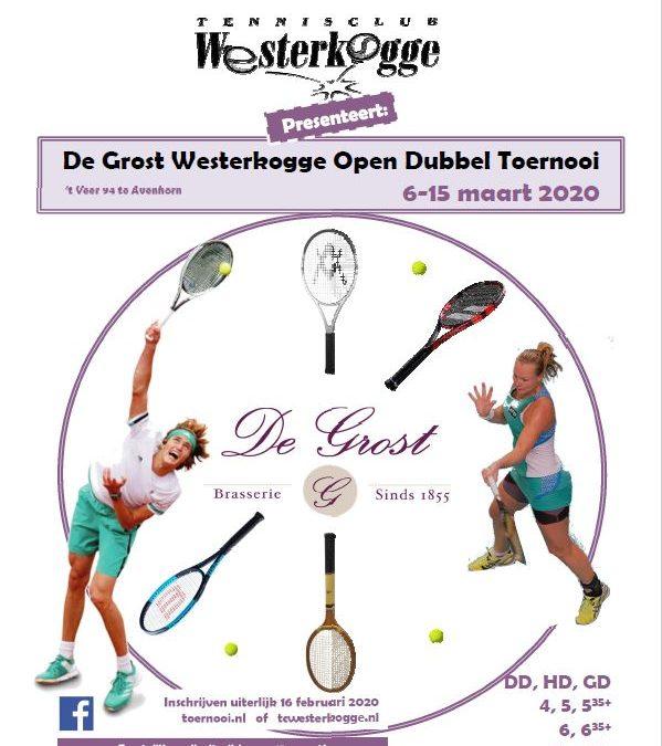 De Grost Opendubbel Tennistoernooi 2020